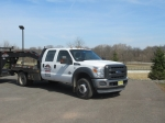 2014 FORD Model F-450XL, Super Duty 4x4 Crew Cab Flatbed Truck